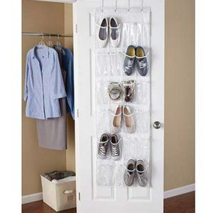 Over the Door Closet Organizer Shoes 24 Pockets